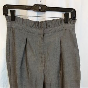 Paper bag waist grey tapered pant